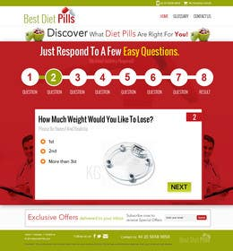 #22 for Design a Website Mockup for Weight Loss Website by suryabeniwal
