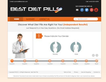 #2 for Design a Website Mockup for Weight Loss Website by junaidiey