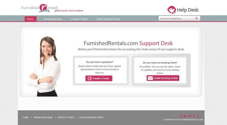Penyertaan Peraduan #                                        6                                      untuk                                         Design a Website Mockup for simple help desk page