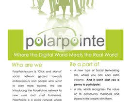 nº 6 pour Graphic Design for Flyer for PolarPointe.com, the entrepreneurs social network. par Jaydeepc