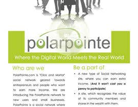 nº 7 pour Graphic Design for Flyer for PolarPointe.com, the entrepreneurs social network. par Jaydeepc