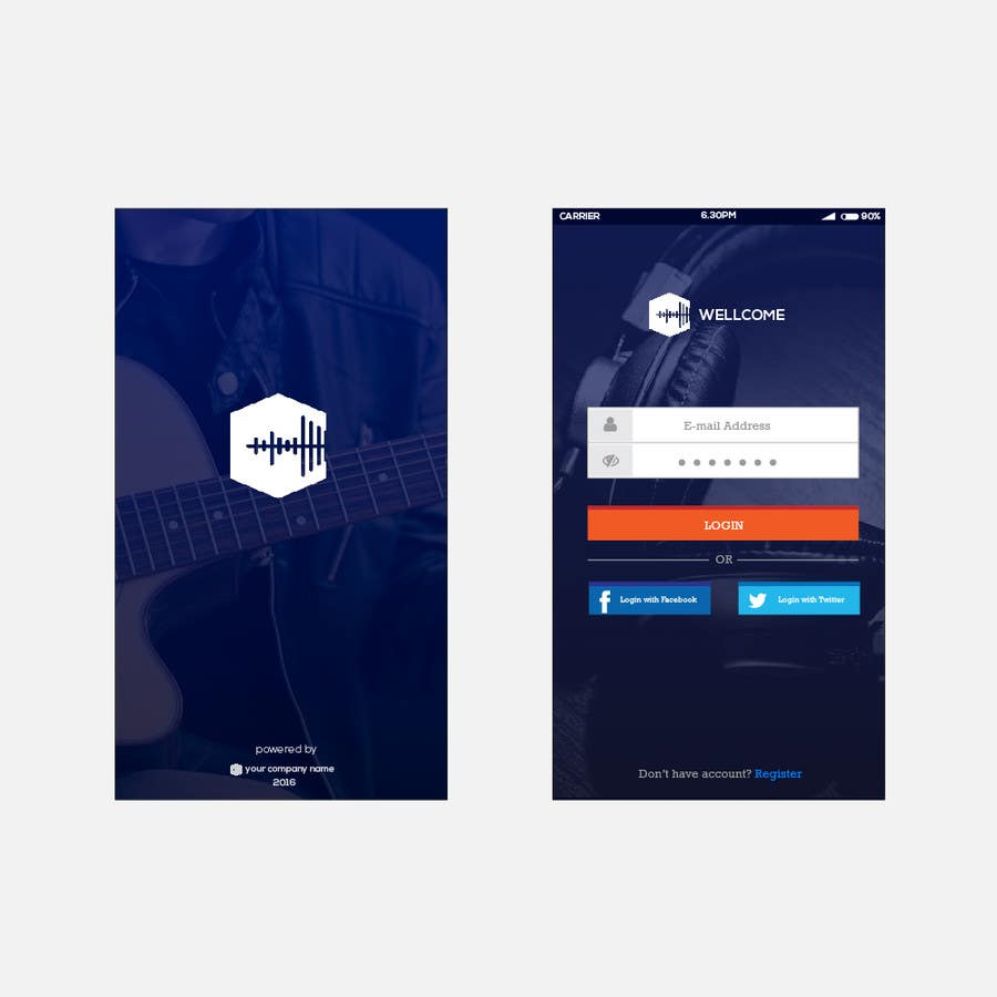 Entry 2 by muhhusniaziz for design mobile app splash and for Mobile app terms and conditions template