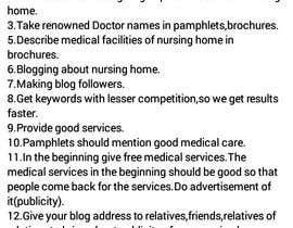 Nro 5 kilpailuun Provide the ideas for Media Planning of An upcoming Nursing Home Cum Diagnostic Center käyttäjältä srivparul