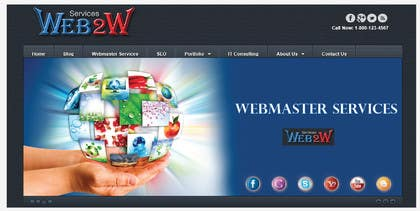 Graphic Design Contest Entry #4 for Design a Banner for website slider - Webmaster Services