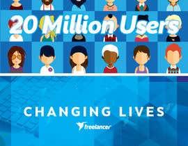 Nro 43 kilpailuun Design Contest: Freelancer.com Hits 20M Users käyttäjältä tituserfand