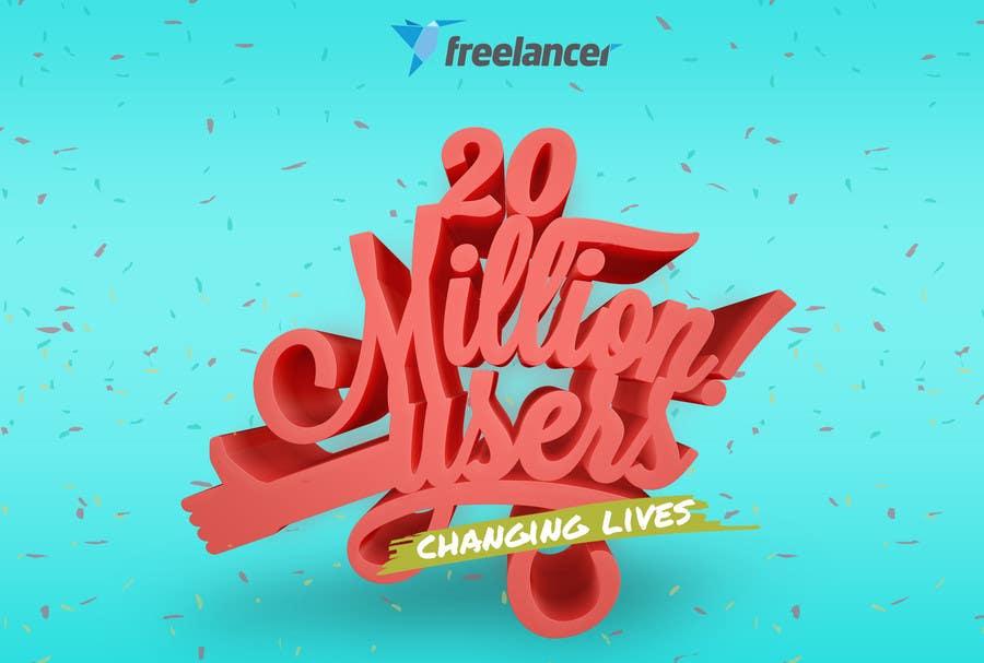 Contest Entry #50 for Design Contest: Freelancer.com Hits 20M Users