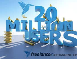 #295 for Design Contest: Freelancer.com Hits 20M Users af JKritique