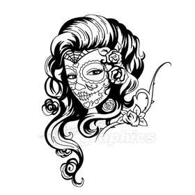 #21 for Day of the Dead - Sugar Skull Design / Cartoon / Illustration by hallowgraphics