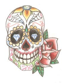 #4 for Day of the Dead - Sugar Skull Design / Cartoon / Illustration by thedeargrandson
