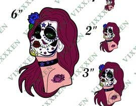 #45 untuk Day of the Dead - Sugar Skull Design / Cartoon / Illustration oleh Vixxxen