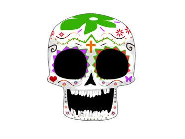 #46 for Day of the Dead - Sugar Skull Design / Cartoon / Illustration by Dragoljub