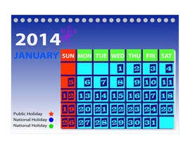 #8 for Design and Layout 2014 Calendar by mahossainalamgir