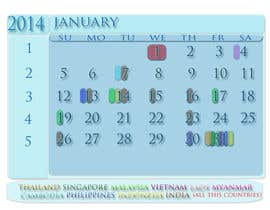 #5 cho Design and Layout 2014 Calendar bởi swathysreeharipj