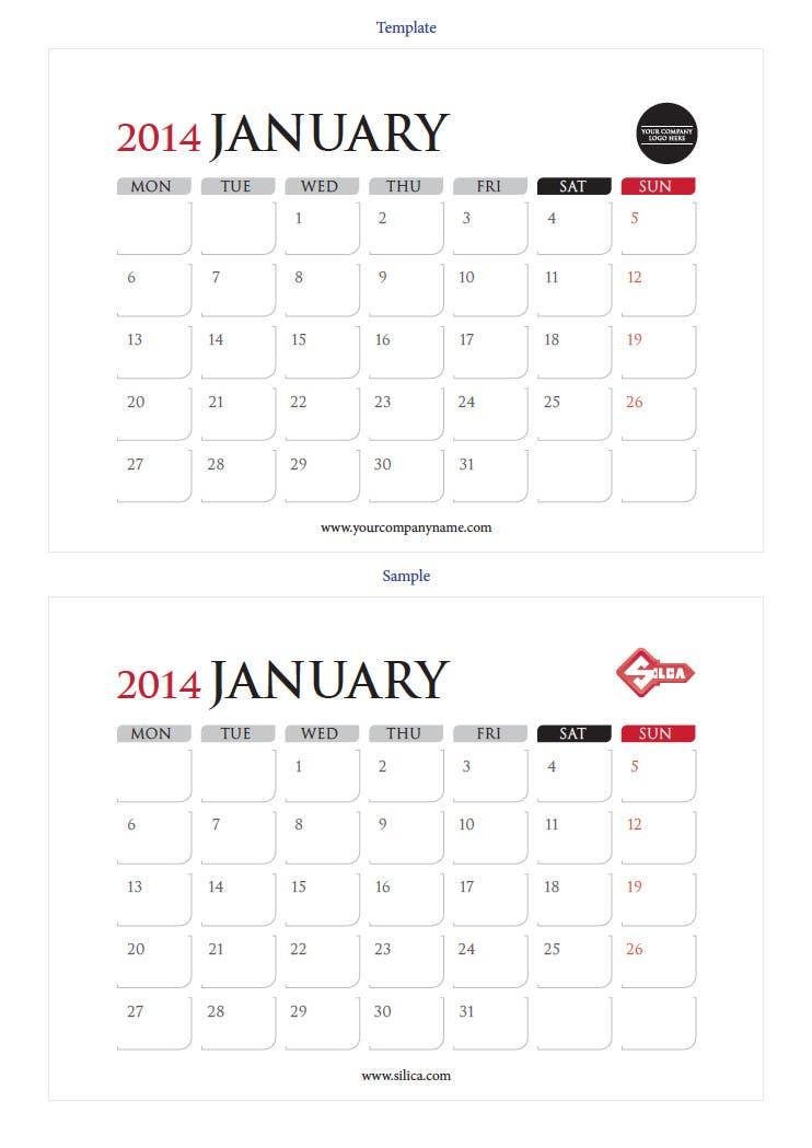 Kilpailutyö #17 kilpailussa Design and Layout 2014 Calendar