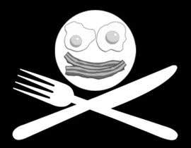 "nº 4 pour Design a Logo for ""Pirate"" themed food blog. Argggh! par p1nd1"