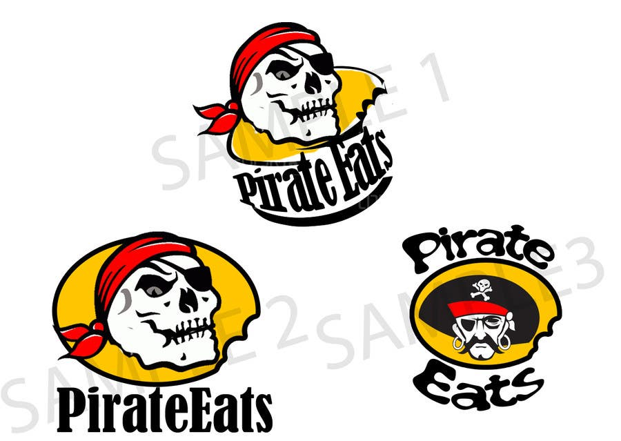"#16 for Design a Logo for ""Pirate"" themed food blog. Argggh! by kaizendesigns"
