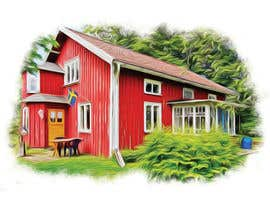 #10 for Design a picture with a typical Swedish house and surroundings by EstefanPortu