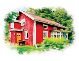 #19 for Design a picture with a typical Swedish house and surroundings by EstefanPortu