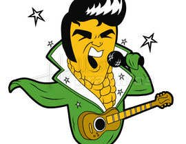 #12 para Elvis as Corn T-Shirt por hallowgraphics