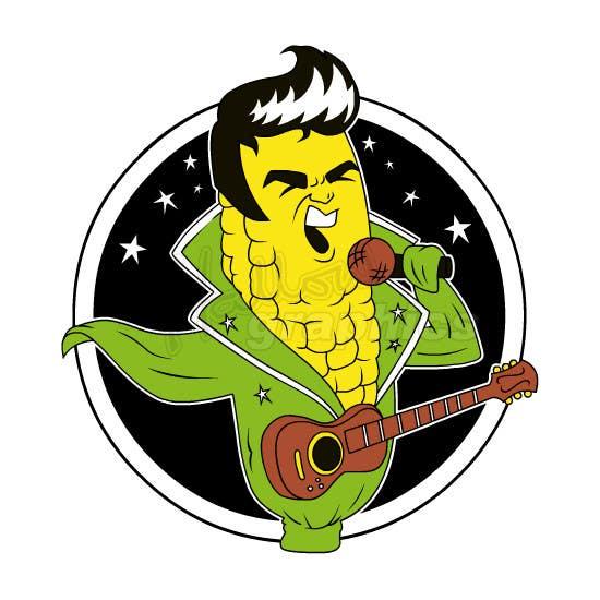 Penyertaan Peraduan #13 untuk Elvis as Corn T-Shirt
