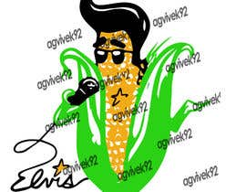 #7 para Elvis as Corn T-Shirt por agvik92