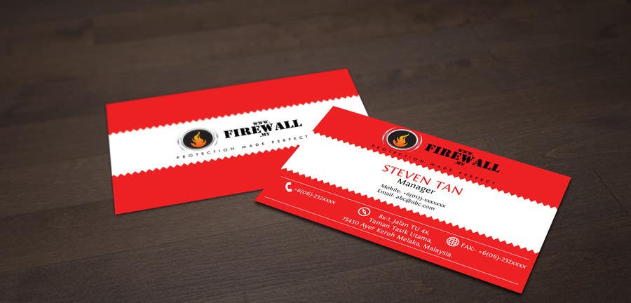 #23 for Design some Business Cards for firewall by pointlesspixels
