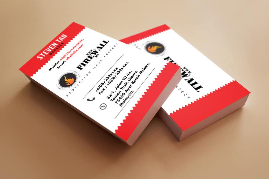 #36 for Design some Business Cards for firewall by pointlesspixels