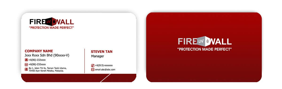 #29 for Design some Business Cards for firewall by RERTHUSI