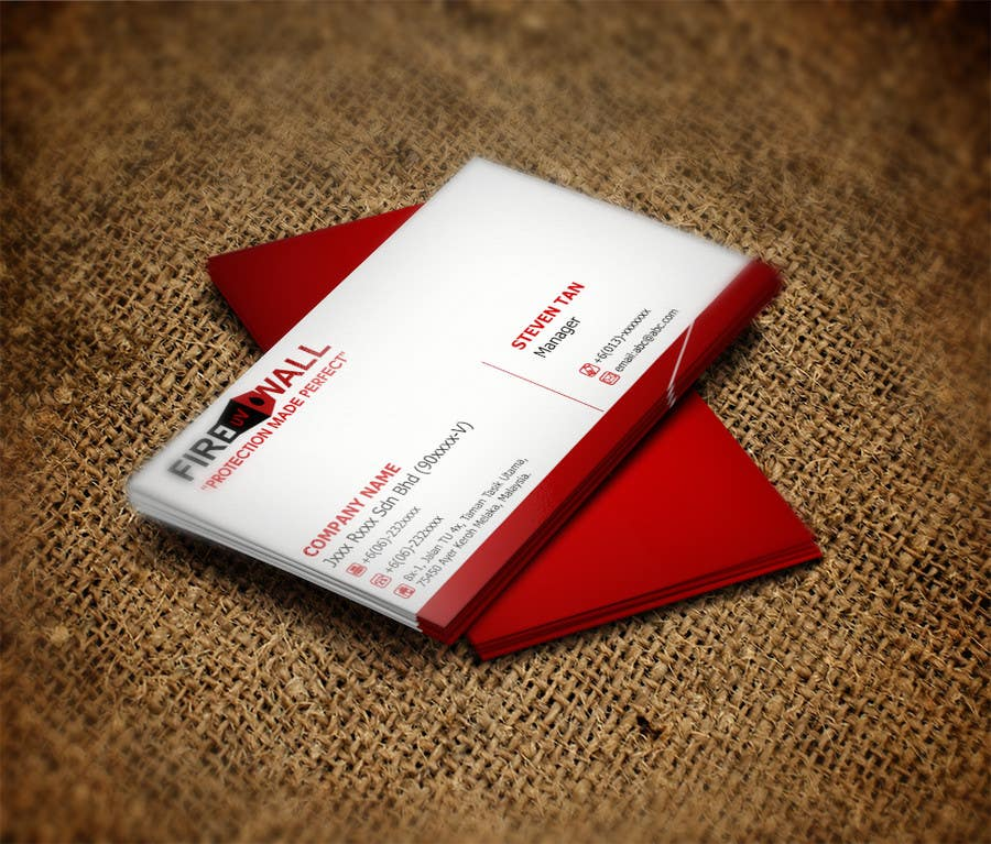 #33 for Design some Business Cards for firewall by RERTHUSI