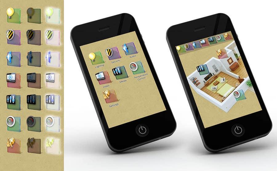 Kilpailutyö #13 kilpailussa Design some Icons for smartphone app tiles