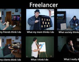 #58 para Graphic Design for What a Freelancer does! por stargazer1682