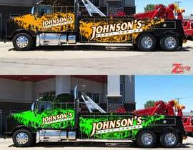 Nro 11 kilpailuun Tow Truck Wrap Design käyttäjältä marcelorock