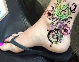 Nro 26 kilpailuun Tattoo design- feminine floral tattoo desired to cover existing tattoo on inner ankle käyttäjältä cjaraque
