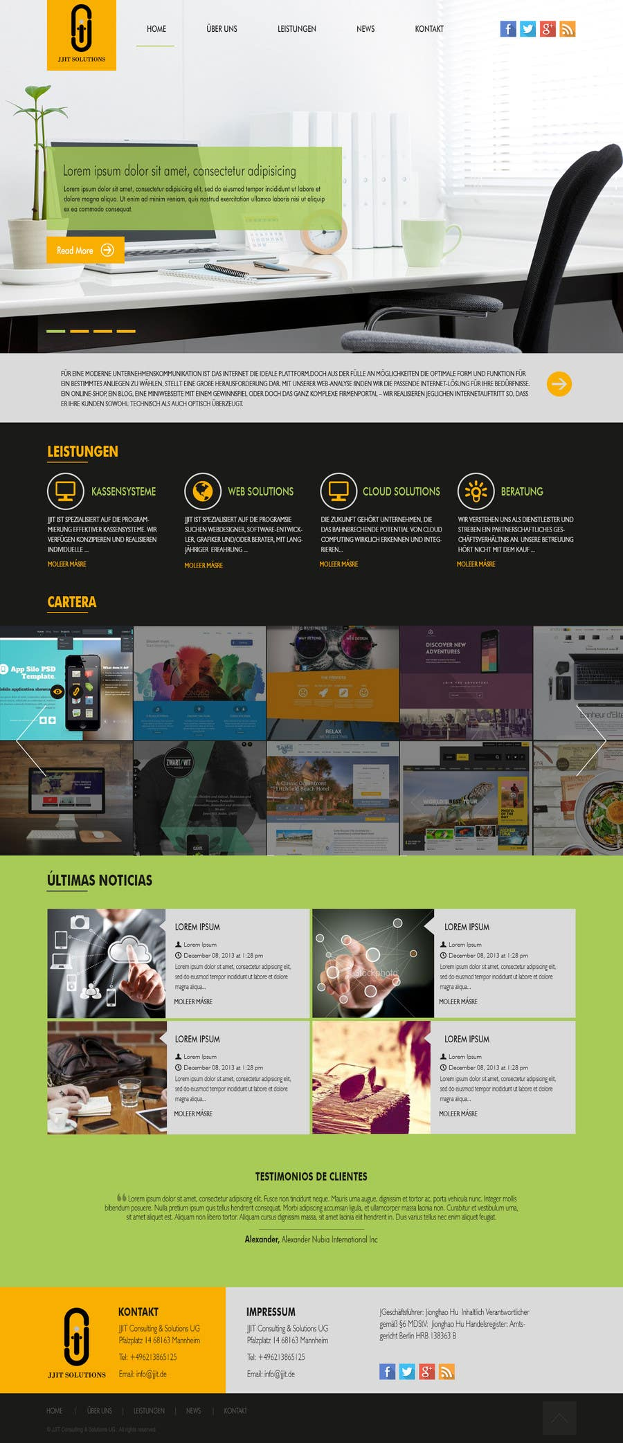 Bài tham dự cuộc thi #16 cho Design a Website Mockup for IT Company
