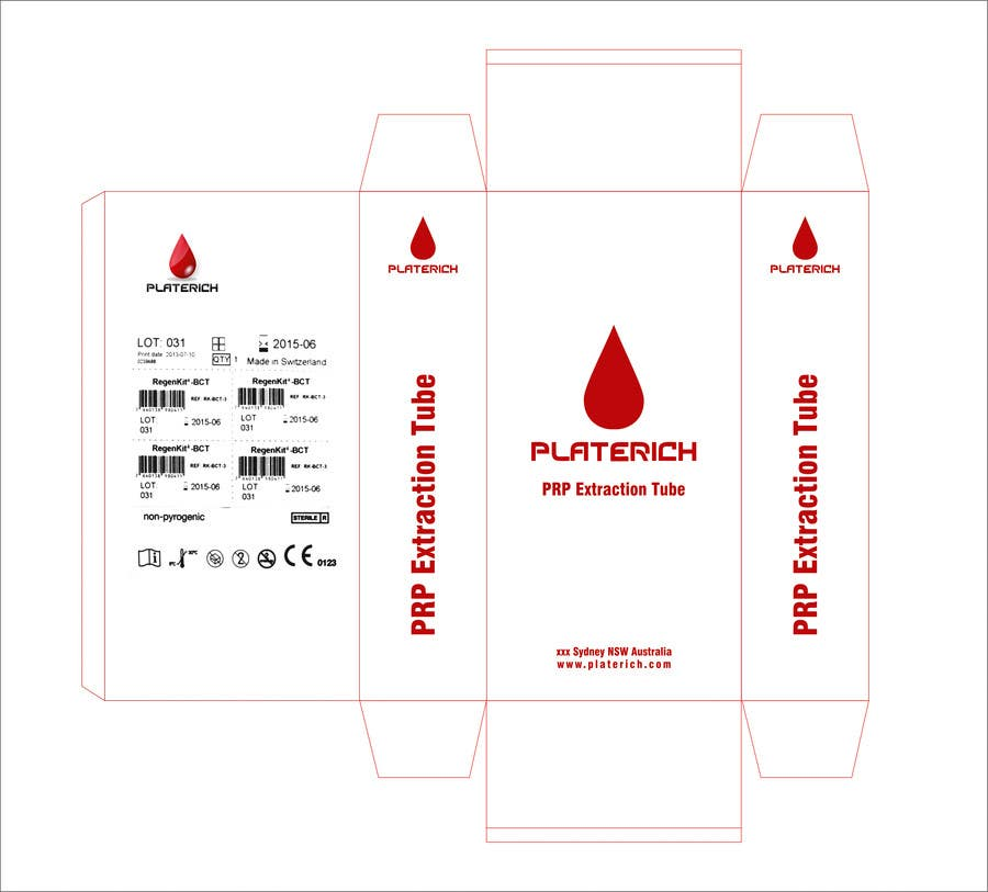 #10 for Create Print and Packaging Designs for box packaging for Platerich by pixelrover
