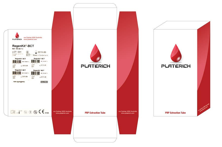 #17 for Create Print and Packaging Designs for box packaging for Platerich by kraphic