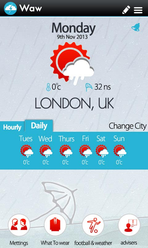 #7 for I need some Graphic Design for a Weather Applicaiton by MagicalDesigner