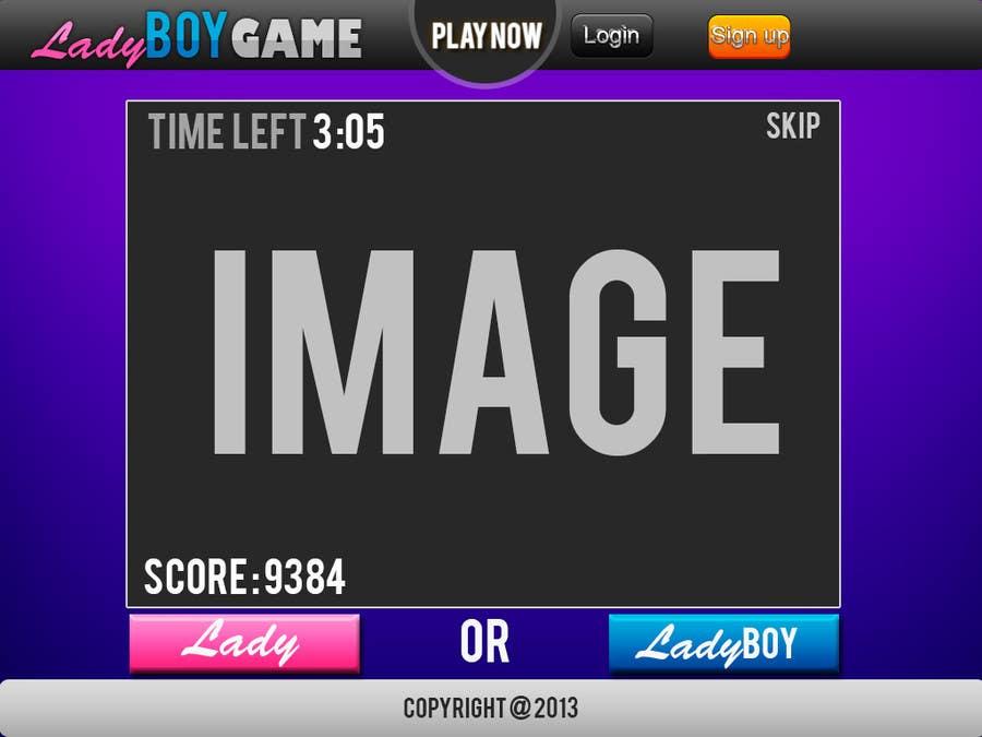 #22 for Design a Website Mockup for domain Ladyboygame.com by joka232