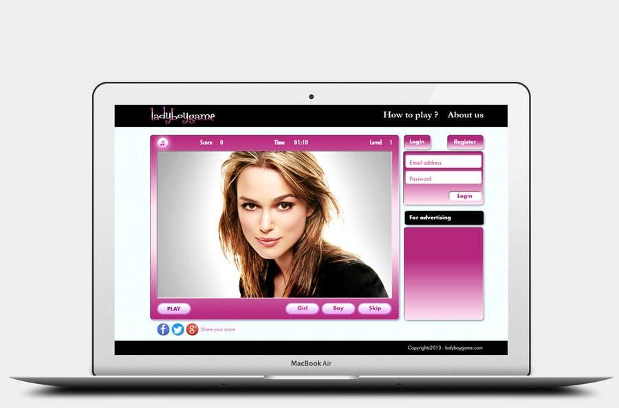 #15 for Design a Website Mockup for domain Ladyboygame.com by sunsoftpro