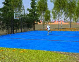 major07 tarafından 3D Model a Grass turf basketball court için no 6