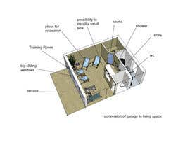 #31 para Design a conversion of garage to living space por eloren