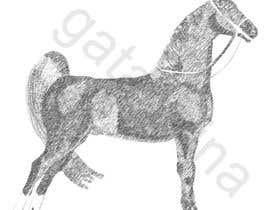 nº 7 pour Hand-drawn sketch of horse in AI format par kmkalczynska