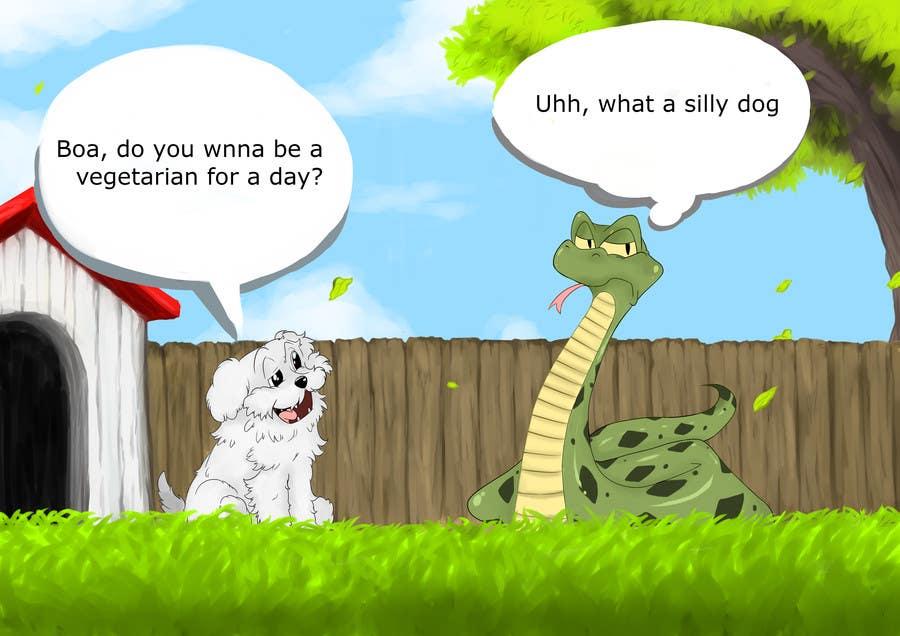 """Kilpailutyö #22 kilpailussa Illustrate something for """"Puppy and Boa"""""""