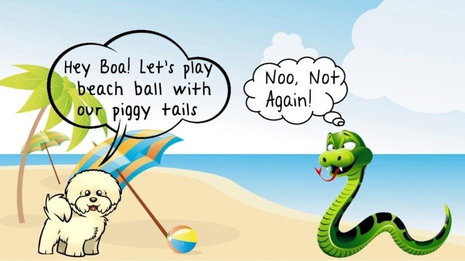 """Kilpailutyö #27 kilpailussa Illustrate something for """"Puppy and Boa"""""""