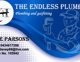 #13 untuk Design some Business Cards for The Endless Plumber oleh shahidhashmi81