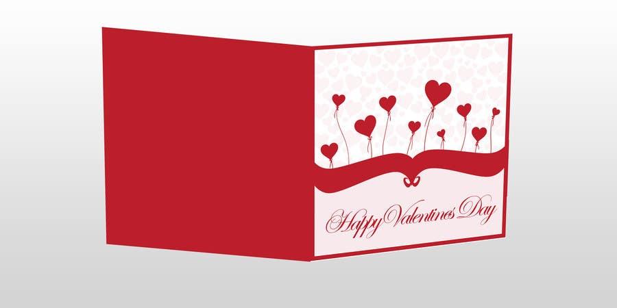 Kilpailutyö #22 kilpailussa Design some Stationery for a Valentine's Day card