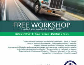 #5 untuk Design a Flyer for a Logistics Workshop oleh barinix