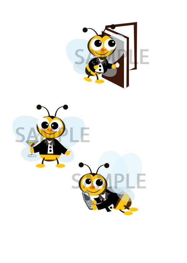 #18 for I need a cartoon-style illustration of a Bee by kaizendesigns