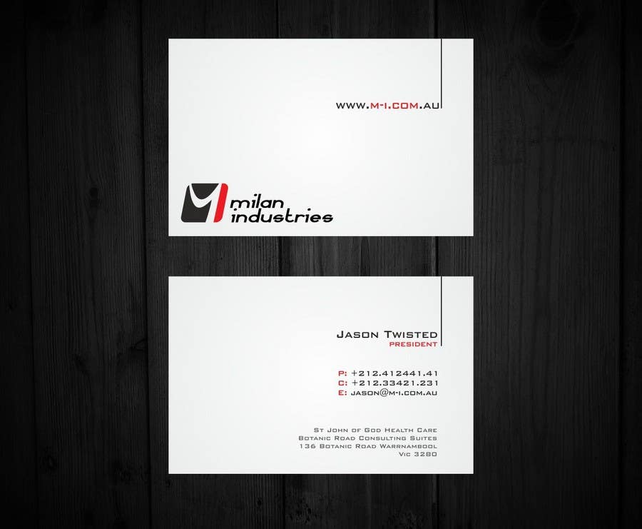 #15 for Stationery Design for Milan Industries Pty Ltd by F5DesignStudio