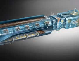 #1 for Concept Art for existing 3D space ship model for SciFi Game by Vladimir83
